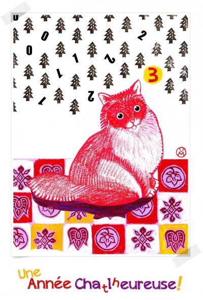 vœux,bonne année,2013,carte,illustration