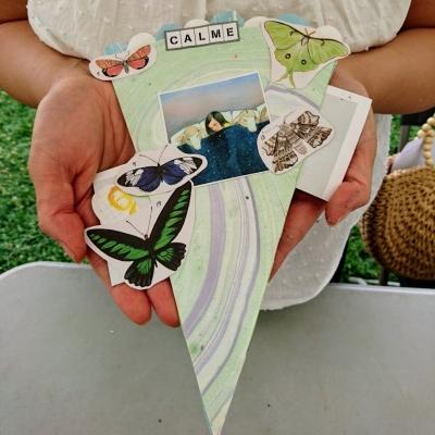 partir en livre, auxerre, art postal, atelier d'art postal, la grande vague