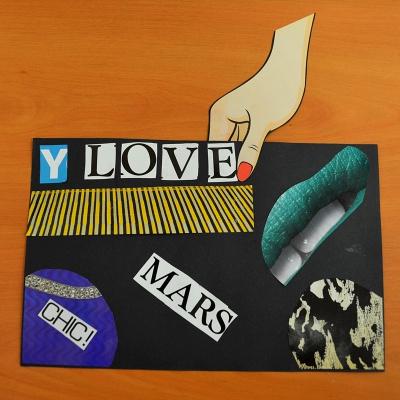 art postal,atelier,franconville,la lettre mystérieuse,collage