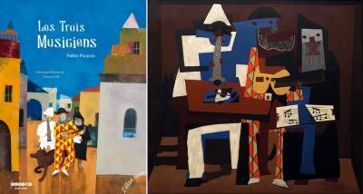 picasso,les trois musiciens,cahier pédagogique,questions,élan vert,pont des arts
