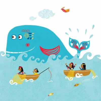 jeu, baleine, conte du monde, indiens