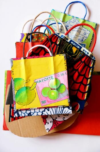art postal,sacs postaux,création,mail art